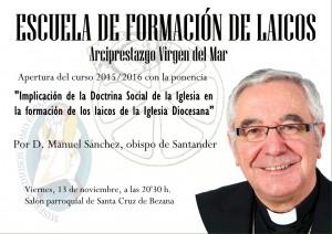Escuela de laicos apertura con el obispo